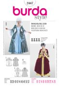 2447 Burda Pattern: Misses' amd Misses' Plus Size Rococco Dress Costumes